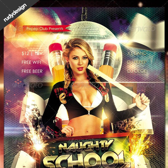 Naughty School Party Flyer