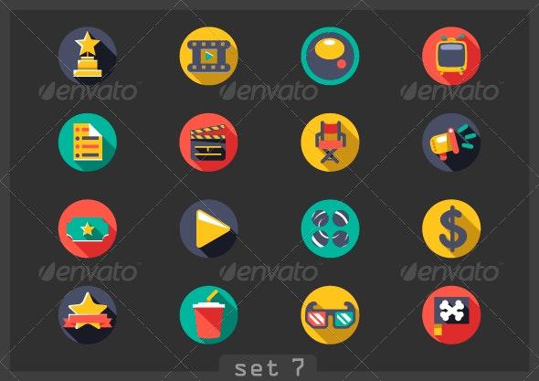 Movie Flat Icons - Media Icons