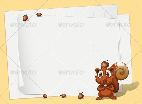 Squirrel - Borders Decorative