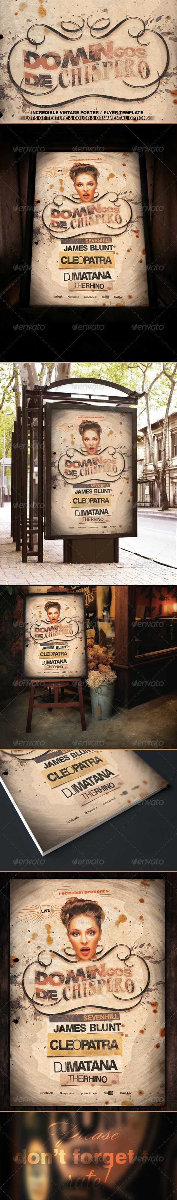 Vintage Poster / Flyer Template  - Events Flyers