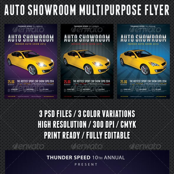 Auto Showroom Multipurpose Flyer 01