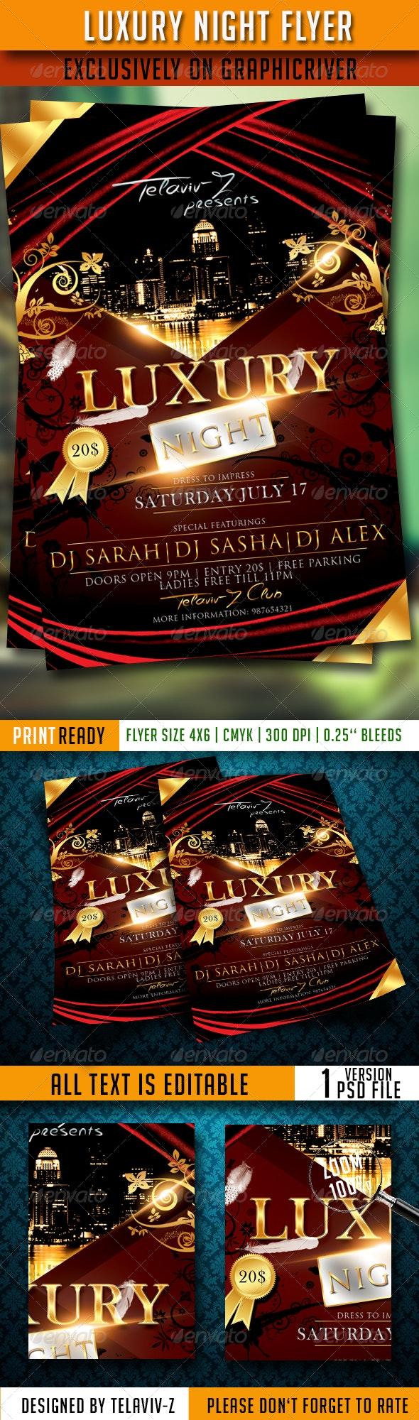 Luxury Night Flyer Template - Print Templates