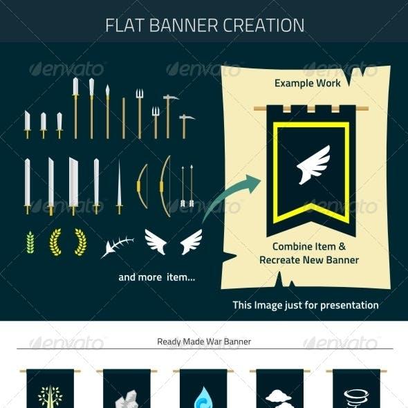 Flat Banner Creation