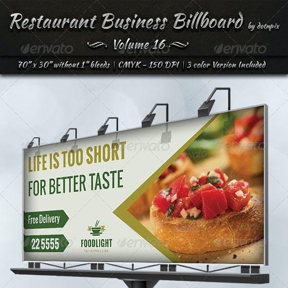 Restaurant Business Billboard | Volume 16