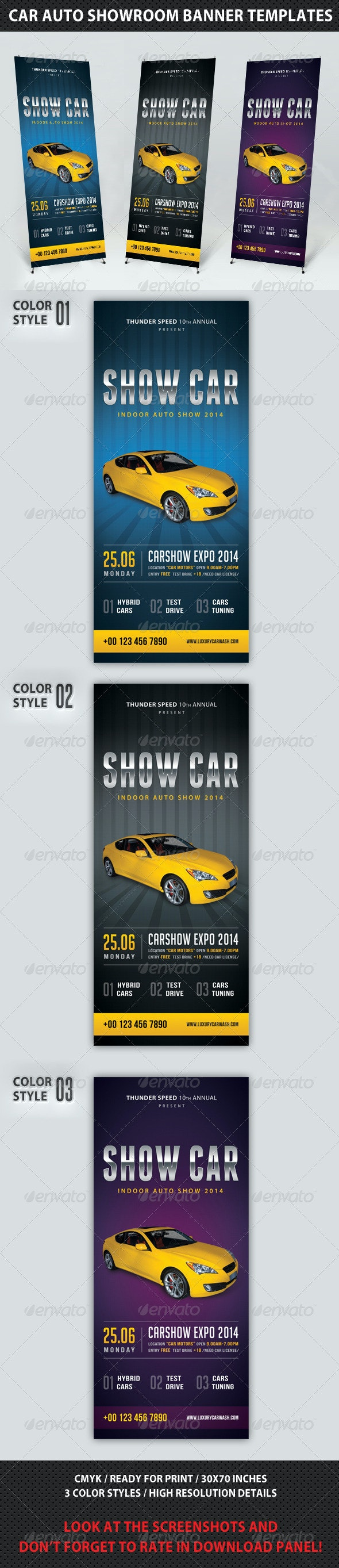 Auto Showroom Banner Template - Signage Print Templates