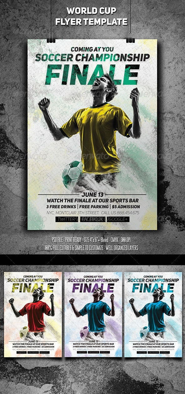 Soccer Championship Finale Flyer - Sports Events