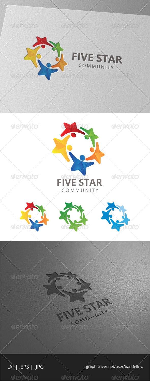 Five Star Community Logo - Humans Logo Templates
