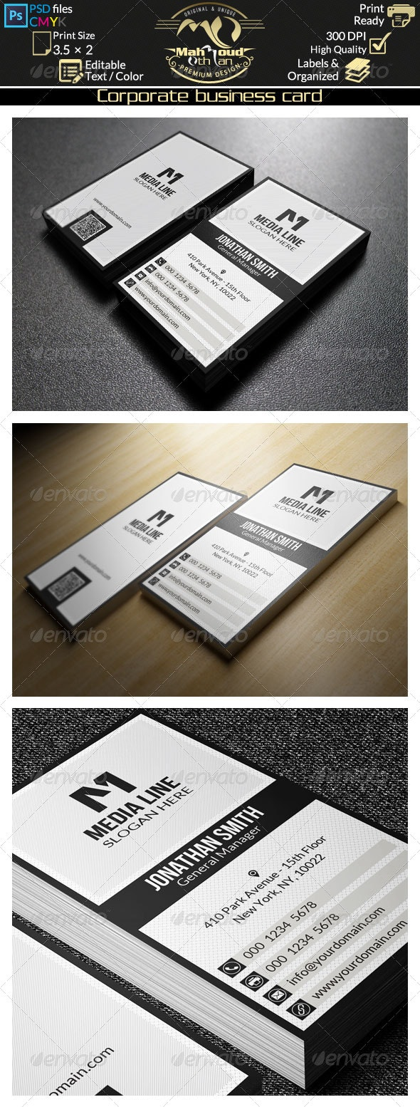 Black And White Business Card 30 - Corporate Business Cards
