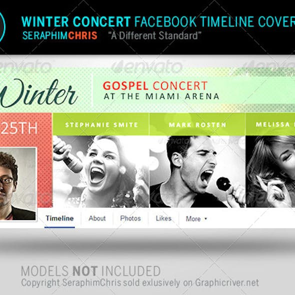 Winter Concert  Facebook Timeline Cover Template