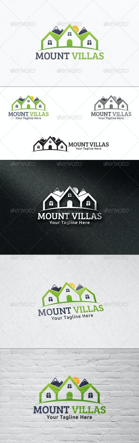 Mount Villas - Logo Template - Buildings Logo Templates