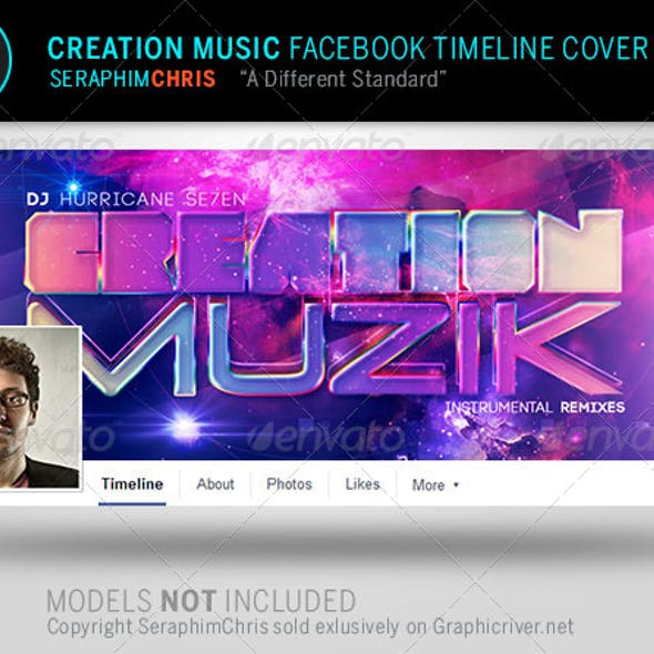 Creation Music Facebook Timeline Cover Template