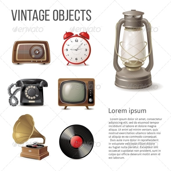 Vintage Objects - Man-made Objects Objects