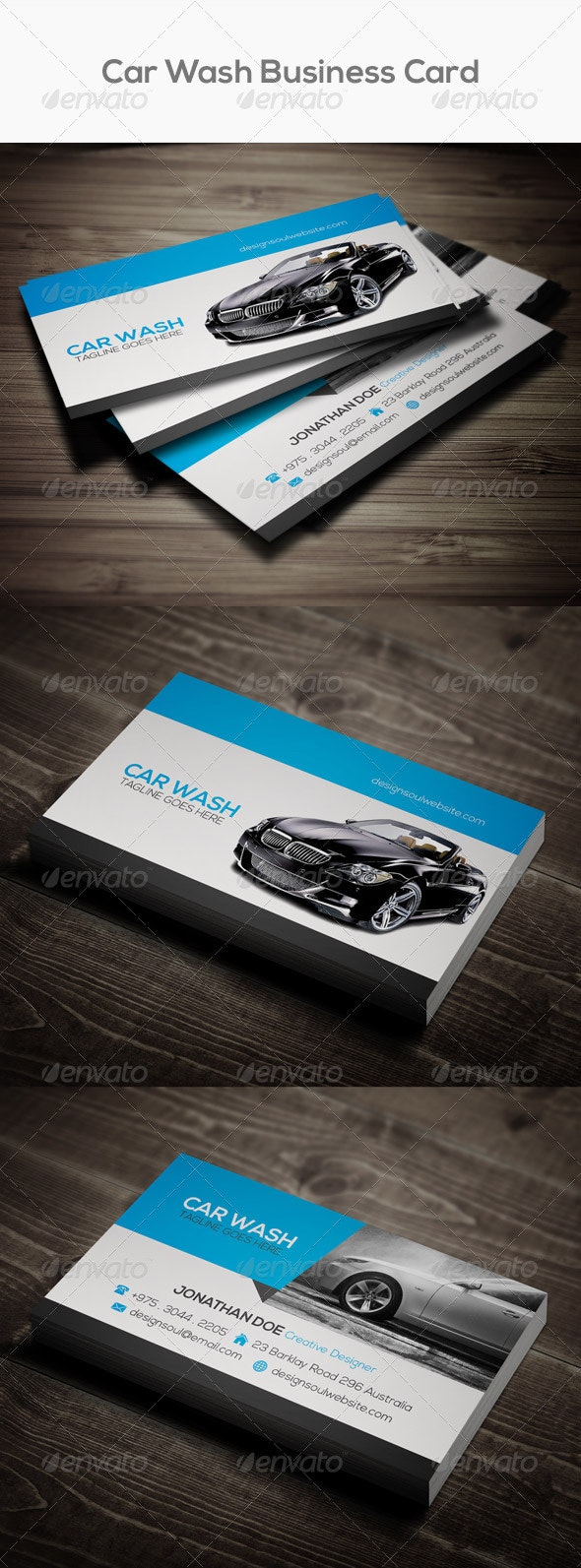 Car Wash Business Card - Industry Specific Business Cards