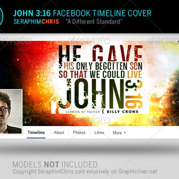 John 3:16  Facebook Timeline Cover Template