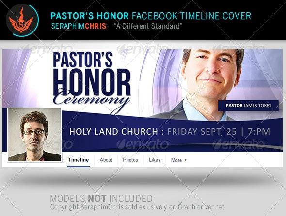 Pastor's Honor  Facebook Timeline Cover Template - Facebook Timeline Covers Social Media