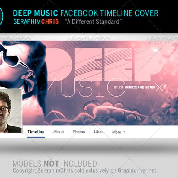 Deep Music Facebook Timeline Cover Template