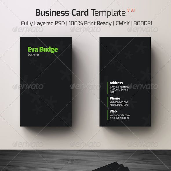 Business Card Template v - 3.1
