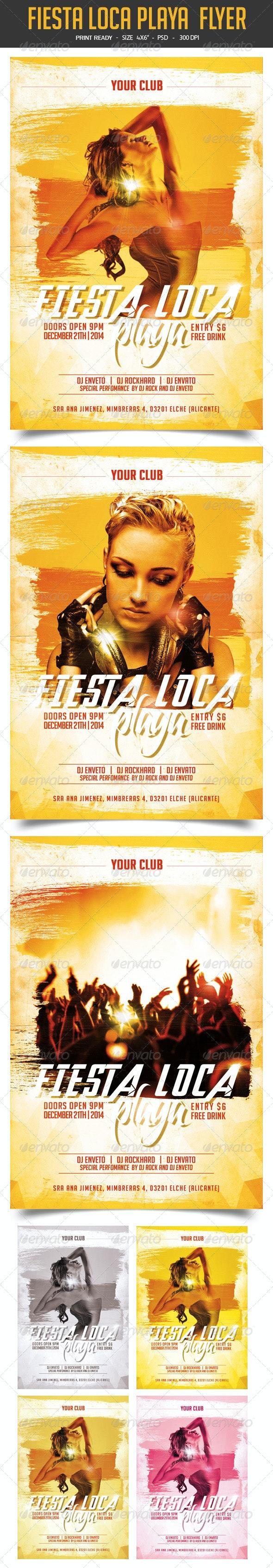 Fiesta Loca Playa Flyer Vol.2 - Clubs & Parties Events