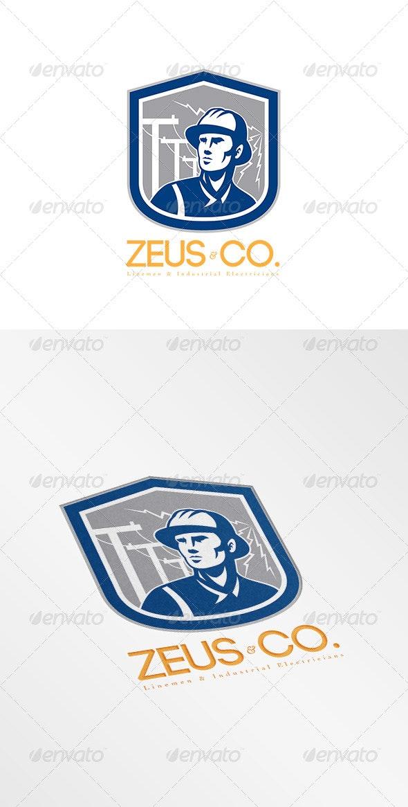 Zeus Industrial Electricians Logo - Humans Logo Templates