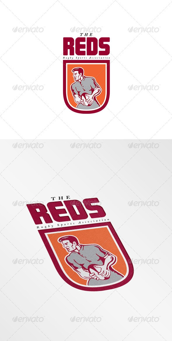 The Reds Rugby Association Logo - Humans Logo Templates