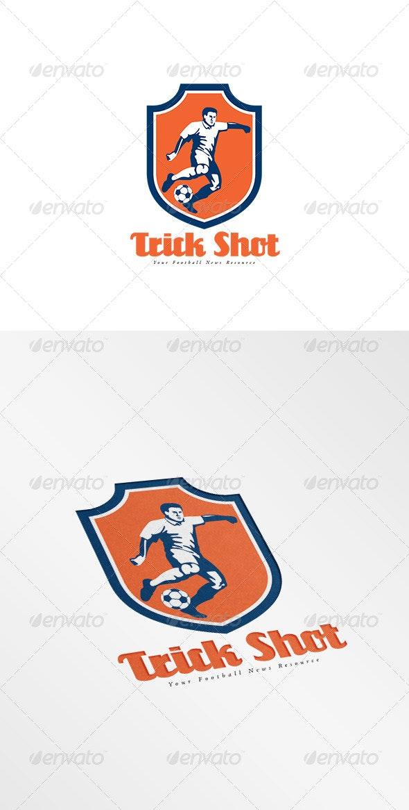 Trick Shot Football News Resource Logo - Humans Logo Templates