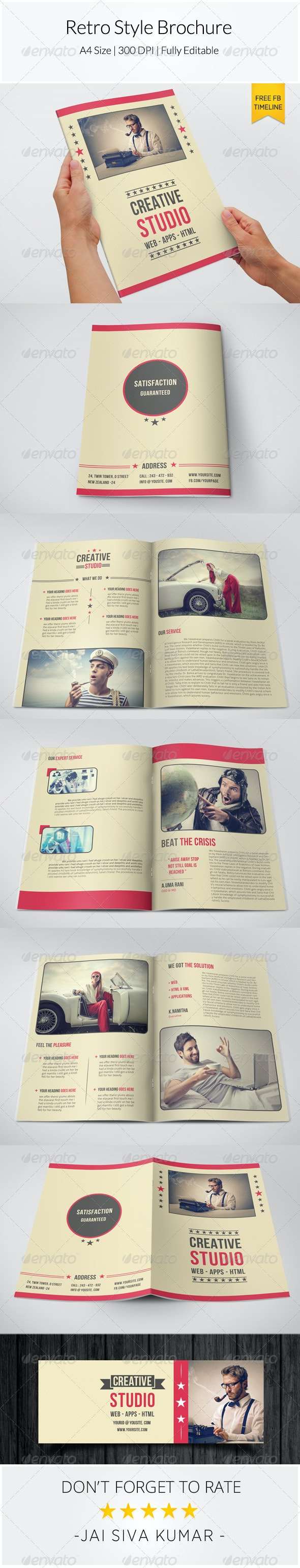 Retro Style Brochure Template - Informational Brochures