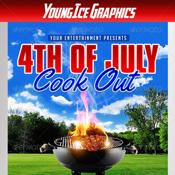 4th of July Cook Out Flyer