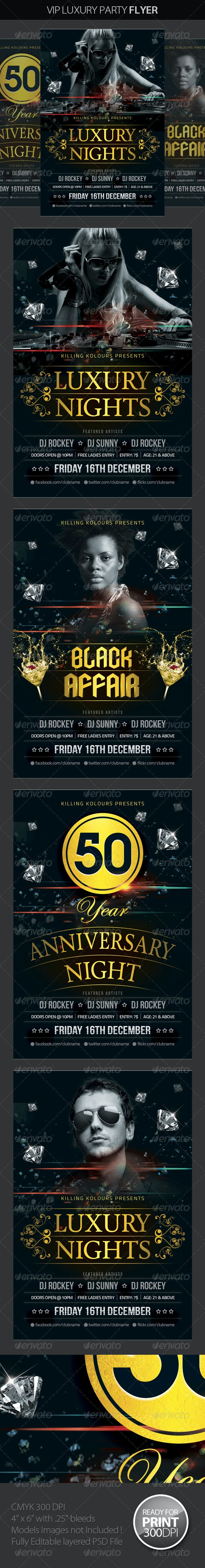 VIP / Luxury Party Flyer - Clubs & Parties Events