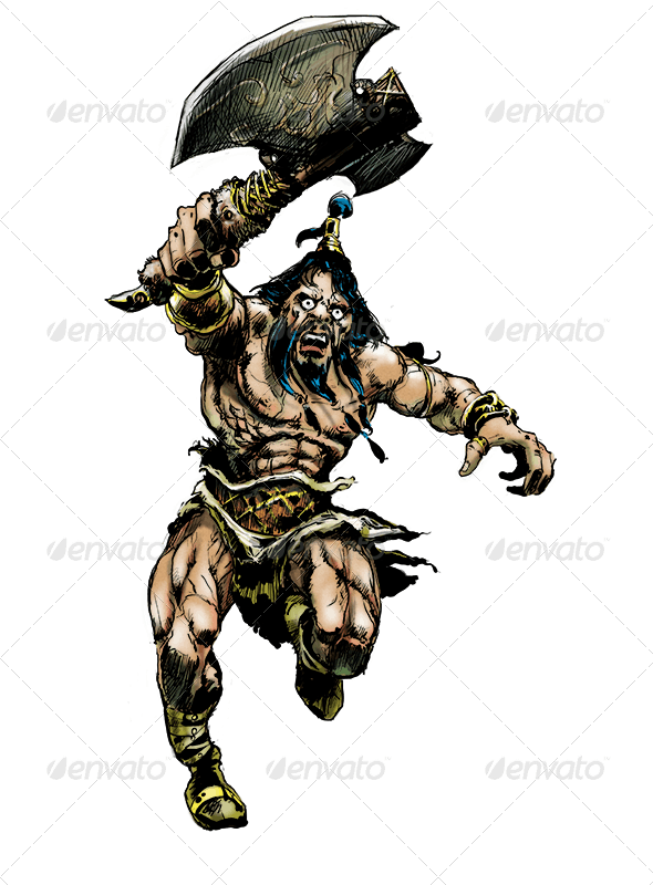 The Barbarian - Characters Illustrations