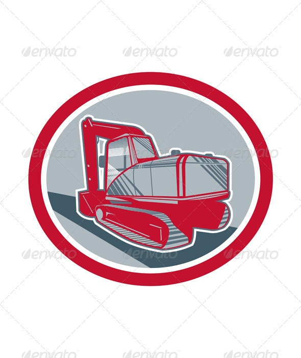 Mechanical Excavator Retro - Industries Business