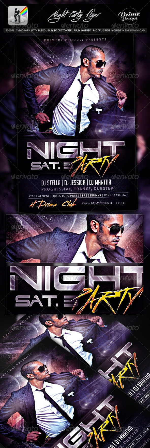 Night Party Flyer - Events Flyers