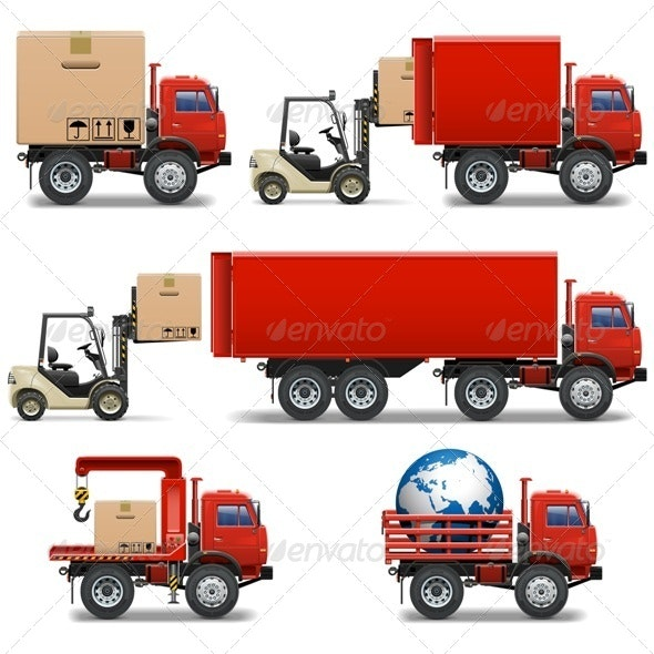 Vector Shipment Icons Set 34 - Services Commercial / Shopping