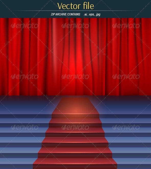Scene with Curtain - Vectors