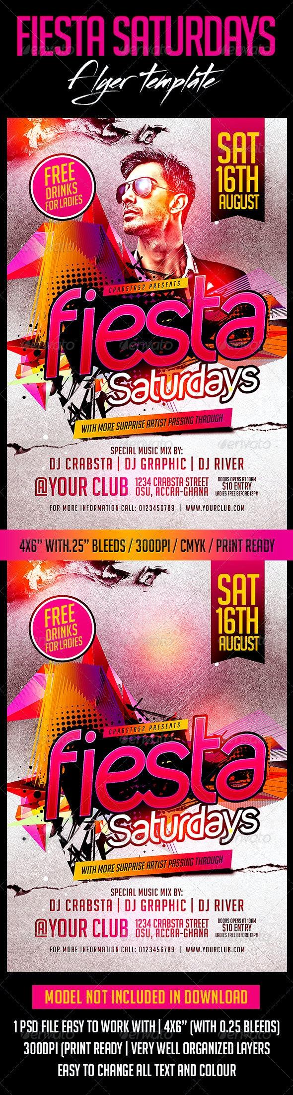 Fiesta Saturdays Flyer Template  - Flyers Print Templates