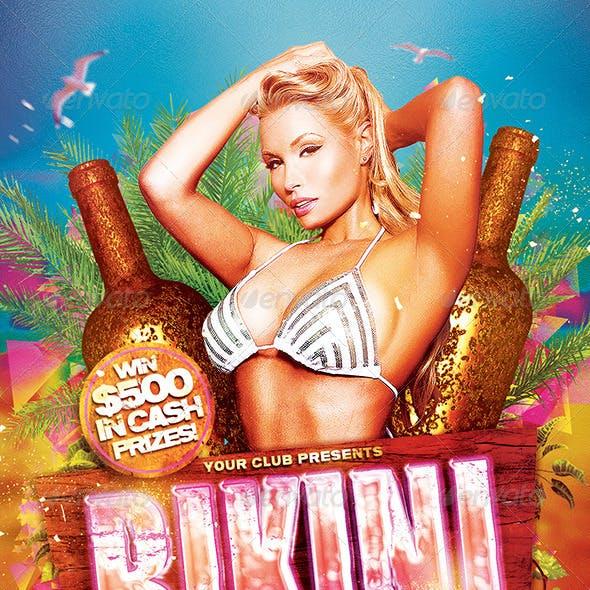 Bikini Contest Flyer Template PSD