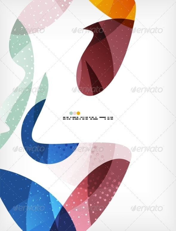 Colorful Abstract Flowing Shapes - Abstract Conceptual