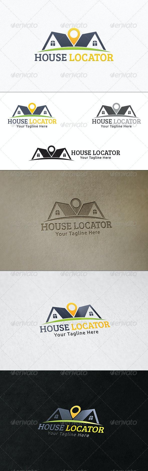 House Locator - Logo Template - Buildings Logo Templates