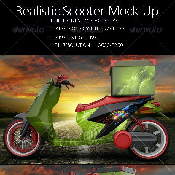 Realistic Scooter Mock Up