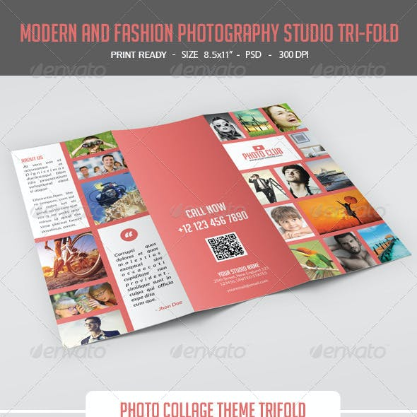 Modern and Fashion Photography Studio Tri-Fold