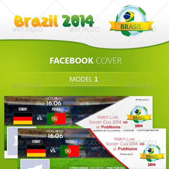 Brazil Soccer Cup 2014 - Facebook Cover