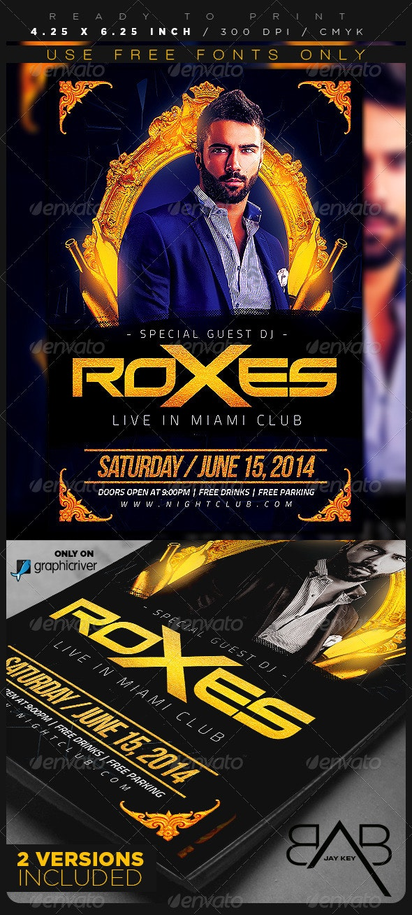DJ Special Guest Flyer - Clubs & Parties Events