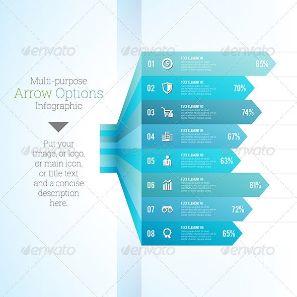 Multipurpose Arrow Option Infographic - Infographics
