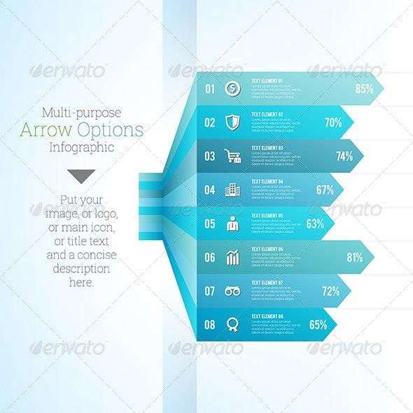 Multipurpose Arrow Option Infographic - Infographics