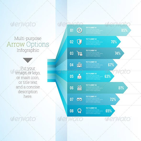 Multipurpose Arrow Option Infographic