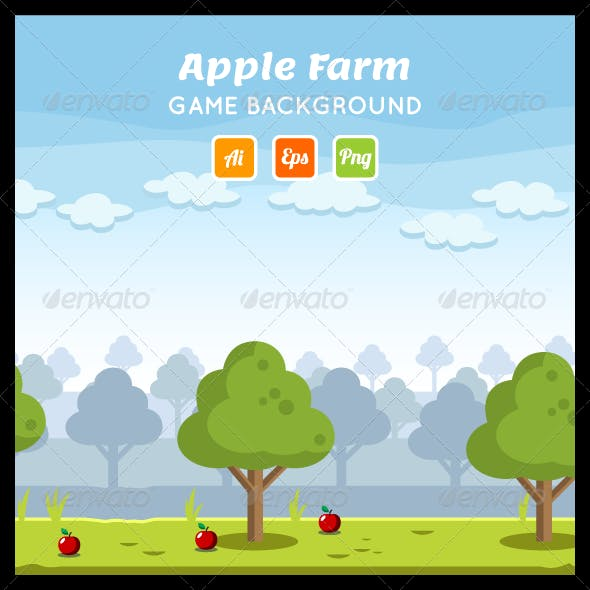 Apple Farm Game Background