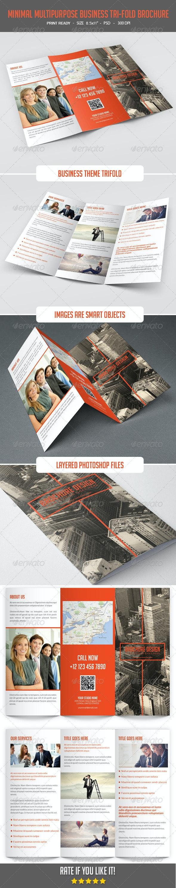 Minimal Multipurpose Business Tri-Fold - Corporate Brochures