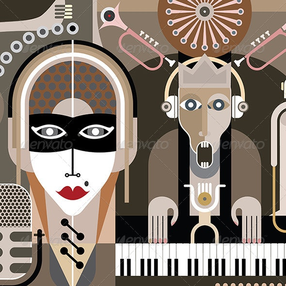 Music Illustration - People Characters