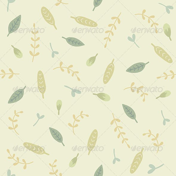 Green Leaves and Branches Pattern