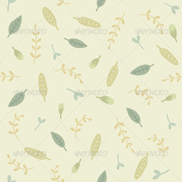 Green Leaves and Branches Pattern - Patterns Decorative