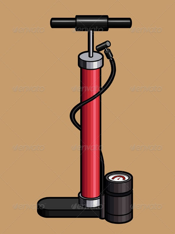 Bicycle Hand Air Pump - Man-made Objects Objects